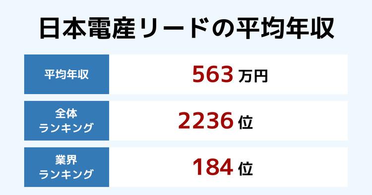 日本電産リードの平均年収