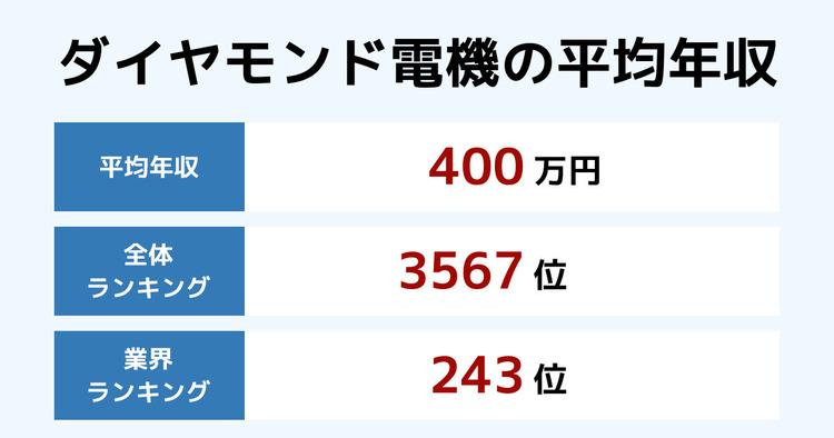 ダイヤモンド電機の平均年収