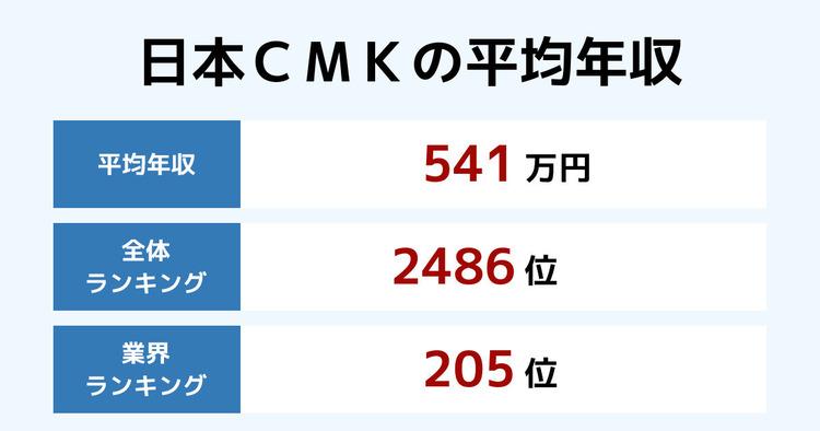 日本CMKの平均年収