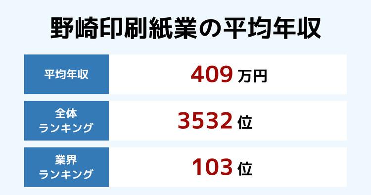 野崎印刷紙業の平均年収