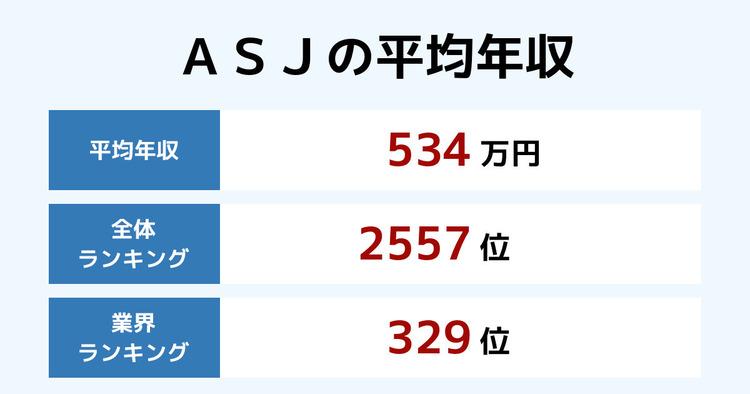 ASJの平均年収
