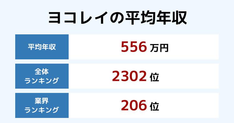 ヨコレイの平均年収