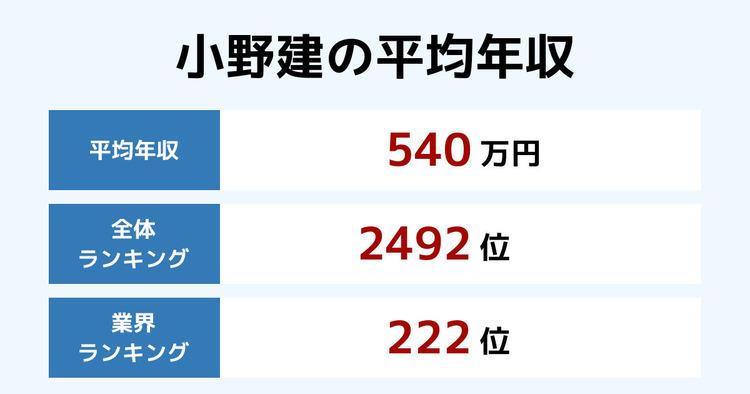 小野建の平均年収
