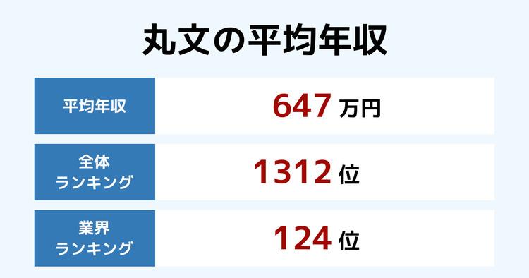 丸文の平均年収