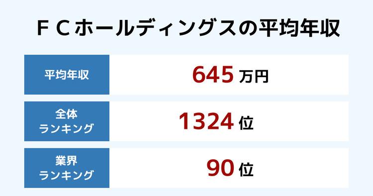 FCホールディングスの平均年収